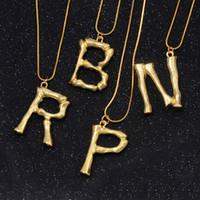 Kadınlar için altın ilk Salkım Hip Hop kolye Basit Abartılı Lav Geometrik Moda 26 İngiliz Alfabeler Harf gerdanlık Takı Hediyeler