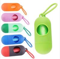 NEUE Ankunft Hundepoop Tasche Scoop Leine Dispenser mit Haken Mini Hundepoop Tasche Boxen Pet Supplies 10pcs Mischfarben