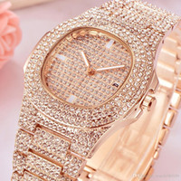 New Luxury Women Watch Diamonds Quartz Lady Stainless Steel ...