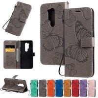 PU cuir 3D papillon gaufrée Wallet Stand Pour flip cas OnePlus 8 Pro 7 Pro 7 6T 6 Un plus 7