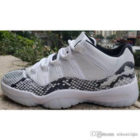 Billig herren 11s lows basketballschuhe retro j11 weiß orange grau schlangenleder schwarz concords kinder jumpman 11 xi low sneakers tennis mit box