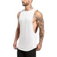 أبيض أسود الرجال تانك الأعلى مع رسائل الرياضة كمال الاجسام أزياء العلامة التجارية رياضة ملابس داخلية ملابس داخلية للرجال عادية في القمم العالية الجودة