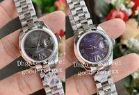 28mm azul cinza ladys relógios automáticos womens assistir ETA 2671 movimento 178383 Steel Senhoras WF Data Presidente 279166 Sapphire relógios de pulso