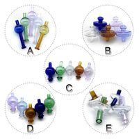 5 stili di vetro Carb Caps direzionale della sfera della bolla Cap UFO protezione variopinta Caps Vetro Carb per i tubi al quarzo Banger Nails bicchiere d'acqua