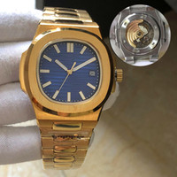 2020 мужские автоматические часы 5711 серебряных ремешок синий нержавеющей мужские механические Montre люксусный наручные часы