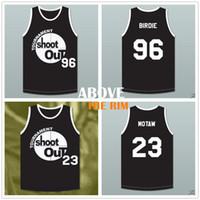 Film 96 Tupac Shakur Birdie Turnier Shoot Out Birdmen Basketball-Trikot 23 Motaw über dem Rand Trikot schwarz Herren Stickerei Hemden S-XXL