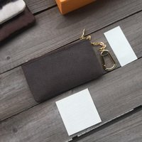 High Quality New Key Pouch Leather Holders Purse Famous Classical Designer Women Key Holder Coin Purse Small Leather Key Wallets