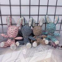 Frauen Luxus Brief Kaninchen Kristall Strass Bling Schlüsselanhänger Charm Anhänger Tasche Schlüsselanhänger Schlüsselring-Kette Weihnachten Tierzubehör