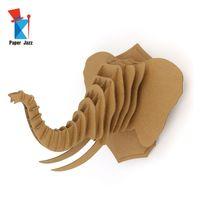 la decoración del hogar de puzzle en 3D animales juguetes educativos los niños decoración principal juego de puzzle rompecabezas de cartón elefante decorar modelo