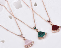 New Fashion Shell Small Fan shaped Skirt Necklace Women Plat...
