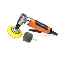 6mm pneumatique meuleuse 90 degrés angle air meuleuse meuleuse arbre 6mm pad de ponçage de roue de polissage non tissé envoyé