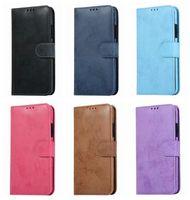 Ретро из искусственной кожи для кожи для iPhone 12 Pro Max 11 X XR XS 8 7 Samsung S21 S20 A52 A72 5G съемный съемный съемный 2 в 1 2in1 бизнес чехол FLIP крышка идентификационная карта