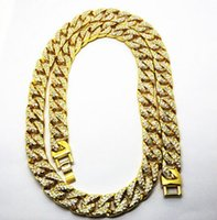 15MM Men 14K Gold Plated exaggerated hip hop Cuban chain Wat...