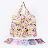 Yeni Bez Çanta Büyük Kapasiteli Ücretsiz Kargo Su geçirmez Katlanabilir Alışveriş Çantaları Yeniden kullanılabilir Saklama Torbası Eko Dostu Alışveriş Çantaları DH0388