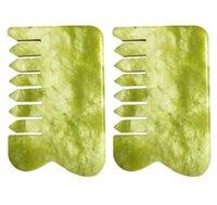 Güzel Yeşil Yeşim Taş Guasha Gua Sha Masaj Yüz Baş Burun Tarak Sağlıklı Güzellik Gevşeme Cure Masaj Aracı