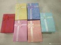 24 teile / los 5x8x2.5cm Mode-Display Verpackungsbox Ring Ohrring Armband Halskette Set Geschenkbox für Schmuck Geschenk