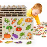 New 30cm Baby Toys Montessori Wooden Puzzle Hand Grab Board ...