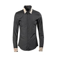 Men s Shirt New Trends Printed Men s Black and White Shirt