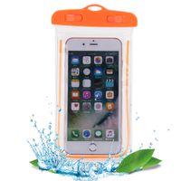 Yüzme Çantaları Aydınlık Sualtı Kılıfı ile Su Geçirmez Çanta Telefon Kılıfı tüm modeller Için 3.5 inç-6 inç