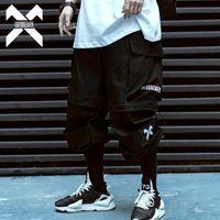 11 BYBB темные хип-хоп грузовые брюки мужчины съемные короткие брюки летние мужские бегуны тактические брюки спортивные брюки уличная одежда мужчины BB014