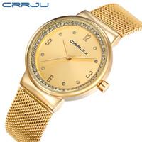 Nuovo marchio 2017 CRRJU Relogio Feminino orologio orologio orologio orologi in acciaio inox orologi da donna moda casual orologio da polso al quarzo