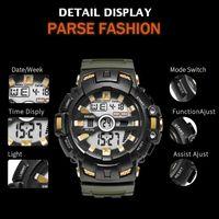 2020 Smael LED Pulsera WACHES DIGITAL Waches Smael Brand Reloj de lujo Relojes militares Alarma Relogio Montre1532B Relojes Hombres Sport Impermeable