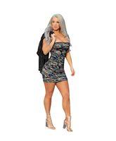W8050 Взрыв моделей Европы и Америки сексуальная обернутая грудь камуфляж ночной клуб сумка бедра юбка внешней торговли женской одежды