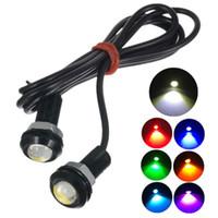10 ADET 18 MM Eagle Eye LED Park Gündüz Sürüş Kuyruk Işık Yedekleme DRL Sis Lambası Cıvata Vida üzerinde Araba Aydınlatma LED a ...