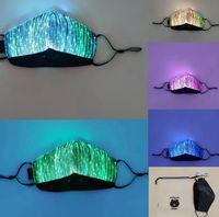 الأنوار لون LED تضيء الوجه قناع USB قابلة للشحن متوهجة الغبار قناع لشريط حزب الرقص الهذيان حفلة تنكرية ازياء الوجه قناع LJJK2154