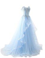 2019 Büyüleyici Aplike Sevgiliye Uzun Gelinlik Modelleri Boncuklu Aplikler Prenses Örgün Akşam Parti Elbise Gelinlik Parti Kıyafeti QC1381
