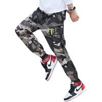 Man Jogger Tarnung Seitentaschen lose Stil Männer Jogginghose Fashion High Street beiläufige Hosen plus Größe