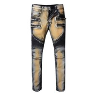 2018 Plus Size Men Jeans Fashion Robin Casual Ripped Jean Sk...