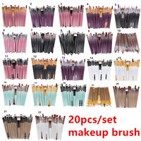 20Pcs Cosmetic Makeup Brushes Set Powder Foundation Eyeshado...