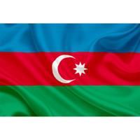 Aserbaidschan Nationalflagge 3x5FT 100D 150x90cm 100% Polyester Banner Messingösen Kundenspezifische Flaggen zum Verkauf, freies Verschiffen