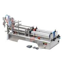 Zeytinyağı için Çok Fonksiyonlu Dolum Makinesi Beyaz Şarap Saf Su Soya Sosu Sirke Çift Kafa Sıvı Paketleme Makinesi