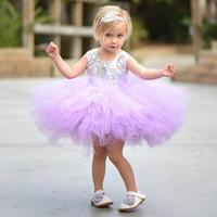 Kleine Mädchen-Festzug-Kleid-Sommer-Kind-Baby-Blumen-Mädchen-Kleid Pailletten Kleid Tutu Prinzessin Mädchen-Kleidung Kleine Prinzessin Kostüm Kinder