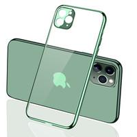 Ultra İnce İnce Kamera Lens Koruma Temizle Yumuşak Premium Esnek Krom Tampon Şeffaf TPU Kılıf iPhone 11 Pro XS Max 8 XR için