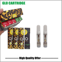 Glo Vape 카트리지 0.8ml 유리 탱크 빈 기화기 펜 카트리지 510 스레드 세라믹 코일 vape 카트 도매