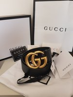 33ddd0161b5 with box 4cm width belt Fashion style designer Luxury Black 4cm Belts  MARMONT Buckle size 105cm 110cm Best size mens women strap hot1