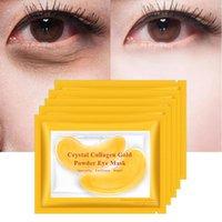 Máscaras OMY SENHORA de cristal do ouro de colágeno Olhos Máscara Patches para o rosto Eye Mask Remove Preto Eye Care