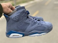2019 New 6 VI blue suede low MEN Basketball 6S designer Shoe...