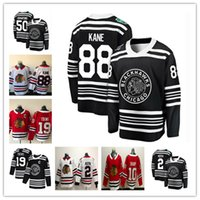 88 Patrick Kane Jersey Chicago Blackhawks 19 Jonathan Toews 2 Duncan Keith 50 Corey Crawford 7 Brent Seabrook Camisetas de hockey de Sharp Sharp