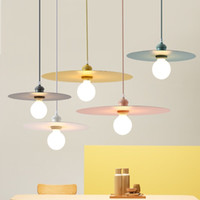 Nordic подвесной светильник творческий цвет макарон ресторан люстра отель стол кафе магазин одежды бар светильники