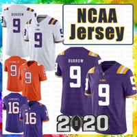 9 Joe Burrow LSU Tigers Clemson Jersey Tigers 16 Trevor Lawrence 9 Travis Etienne Jr. NCAA American Football Jerseys Julio Jones 2020 Nuevo