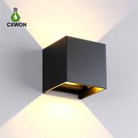 주도 벽 빛 85-265V 7w 12w IP65 방수 침실 침대 옆 조명 거실 발코니 통로 벽 램프는 단순한 디자인의 mordern