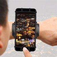 ВУП Эластичный силиконовый браслет Велоспорт Бег Вращающийся 180 градусов Armband Спорт Регулируемые держатели для смартфона iPhone 8 самсунг