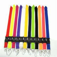 Moda 12 Renkler Evrensel Boş İpi mevcut Boyun Askısı KIMLIK kartı Cep Cep Telefonu için Dize Anahtar Zincirleri NeckStrap DHL