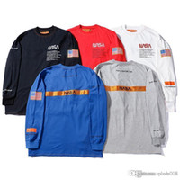 19SS Heron Preston NASA HP long- sleeve INS hipster t- shirts ...
