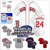 c8aa8193 Boston World Series Red Sox 33 Jersey Schilling Martinez Tim Wakefield Jason  Varitek Garciaparra Youkilis Johnny Damon Manny Ramirez Ortiz