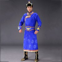 Traditional Mongolian Costumes for Men Grassland National dr...